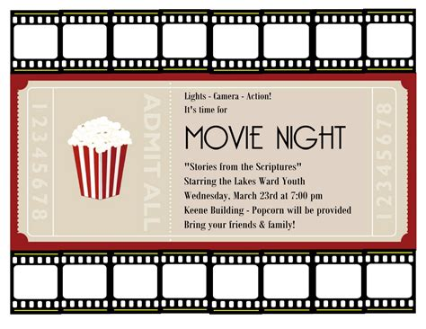 printable movie night tickets movie ticket template cyberuse