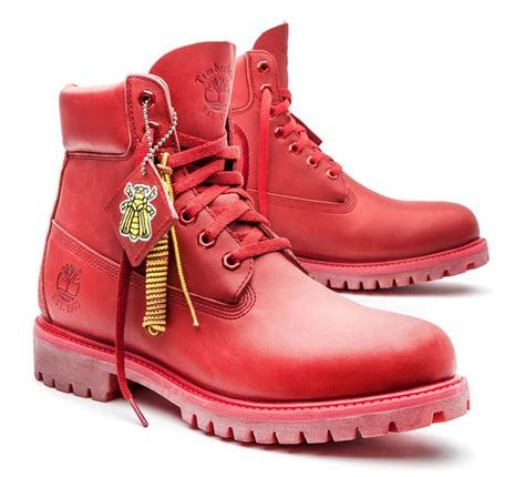 timberland boat shoes red sole bee line for billionaire boys club x timberland red boot