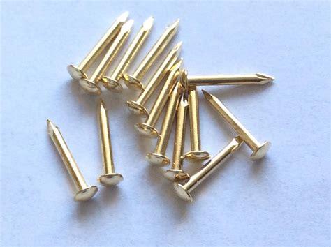 Small Pins escutcheon brassed pins tacks nails brads 3 8 quot 10mm crafts