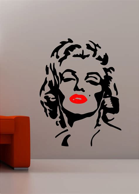 Banksy Wall Art Stickers marilyn monroe pop art wall art quote sticker vinyl