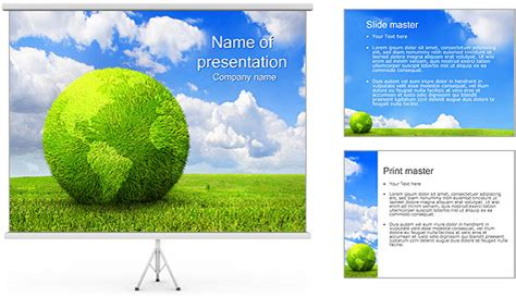 Green Earth Concept Powerpoint Template Backgrounds Id Green It Concept Ppt