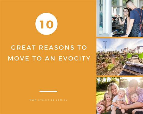 reasons to move to 10 great reasons to move to an evocity evocities