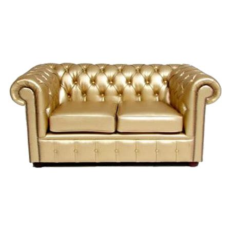 gold chesterfield sofa chesterfield metallic leather loveseat