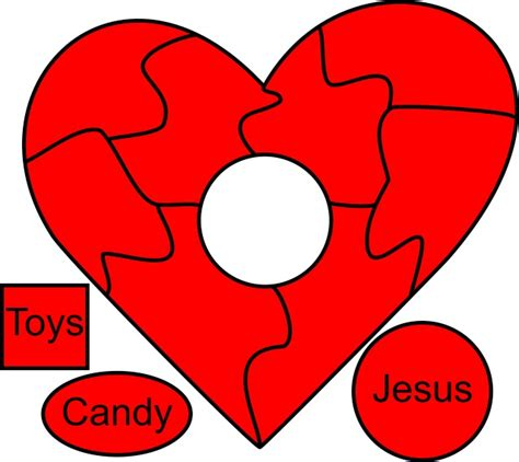 printable puzzle heart heart puzzle valentine s day kids church craft lesson