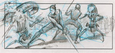 star wars storyboards star wars episode 1 the phantom menace battle sequence storyboards collider