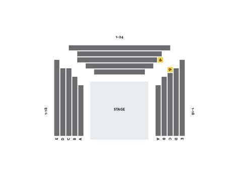 seating maps performing arts the of
