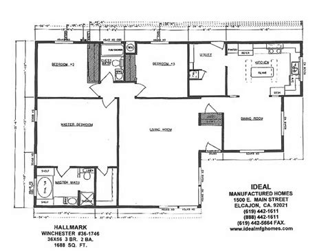 skyline manufactured home floor plans skyline triple wide floor plans idealmfghomes 76752