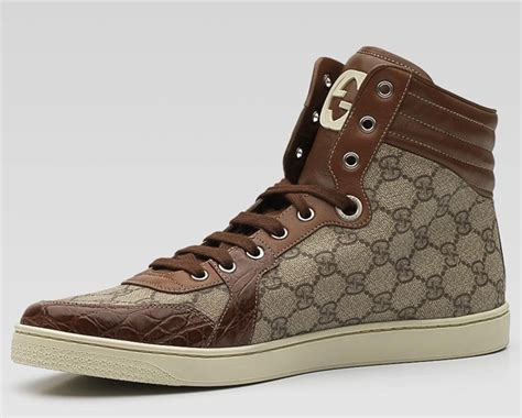 Crocodile Casual Santiago gucci quot interlocking g quot high top sneakers lost in a