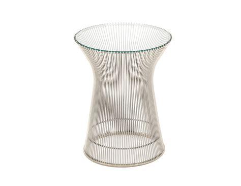 platner nickel side table hivemodern