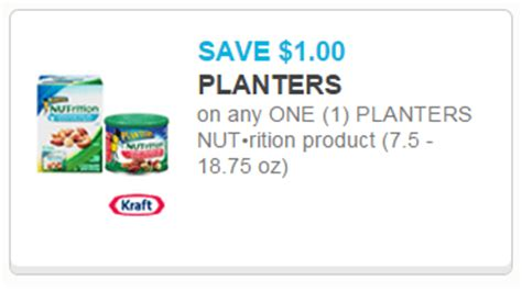 Planters Nutrition Coupon by Planters Nutrition Peanut Butter Only 2 28 At Walmart