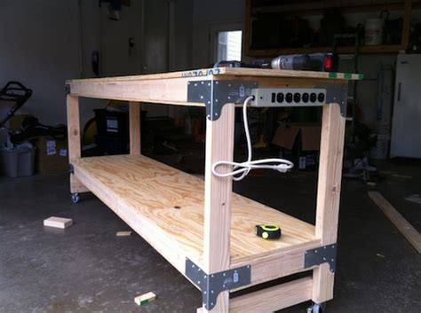 how to build a work table how to build a heavy duty workbench one project closer
