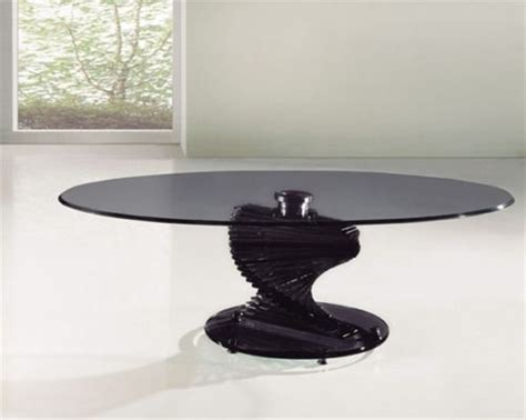 Twirl Glass Dining Room Table Twirl Smoked Glass Coffee Table Homegenies
