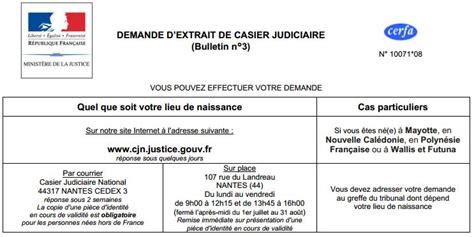 Lettre Demande De Casier Judiciaire N 3 Lettre Effacement Casier Judiciaire