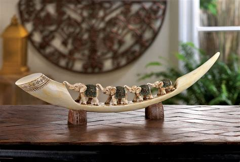 carved elephant totem decor wholesale at koehler home decor green elephant tusk wholesale at koehler home decor