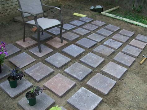 Outdoor How To Build Diy Concrete Pavers Pavers Over Paver Patio Ideas Diy