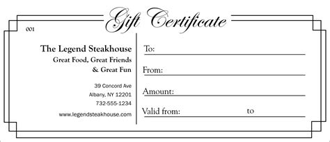 black and white gift certificate template free black and white gift certificate 003