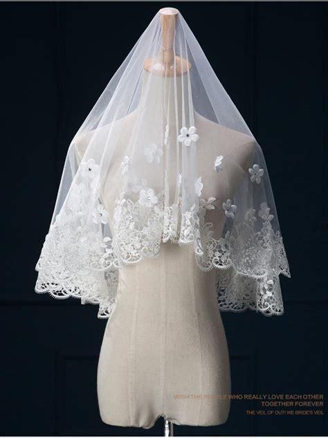 Hot Sale Ivory White Wedding Veils 2016 Bridal Veils Best