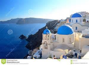 Roof Building Plans famous santorini blue dome churches at oia santorini