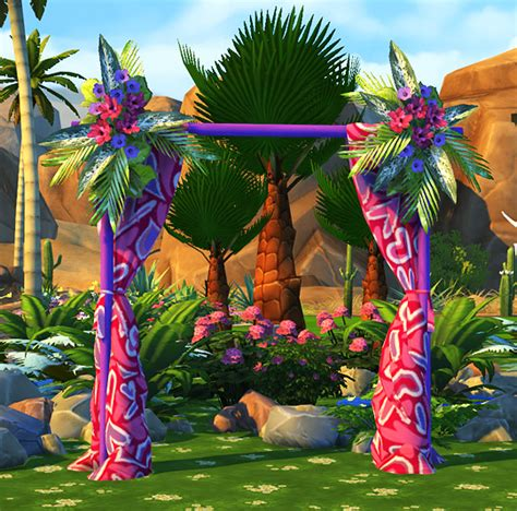 Wedding Arch Sims 4 Cc by Sims 4 Fully Functional Wedding Arches