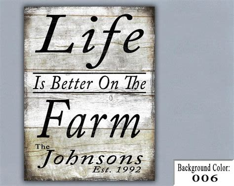 Personalized Wood Signs Home Decor Farm Handmade Sign Wooden Sign Wood Sign Home Decor Wall Decor Personalized Sign Custom