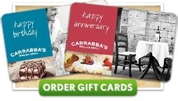 Carrabba S Gift Card Balance Check - object moved