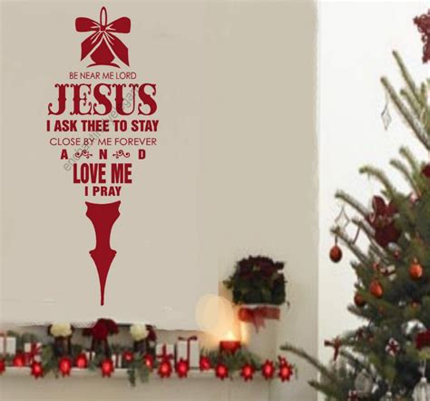 be near me lord jesus christmas decor vinyl decal stickers