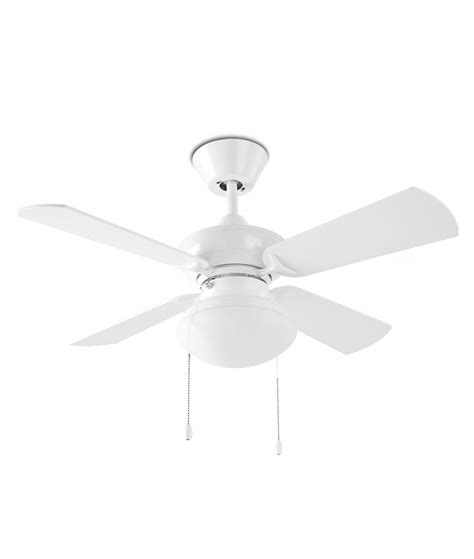 Heat Ceiling Fans by White Ceiling Fan With Four Reversible Blades And