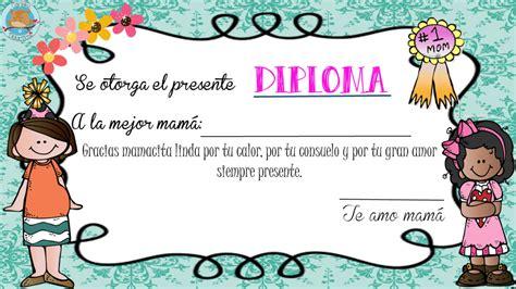 diplomas de madre d 237 a de la madres actividades diplomas vales tarjetas
