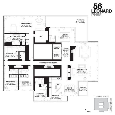 8 york street floor plans iconic new tribeca penthouses for sale 56 leonard