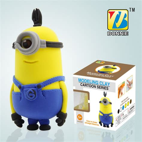 Modelling Clay Minion Phil cheap diy colorful modeling clay the minions figure tim bn9987 2 sale with free