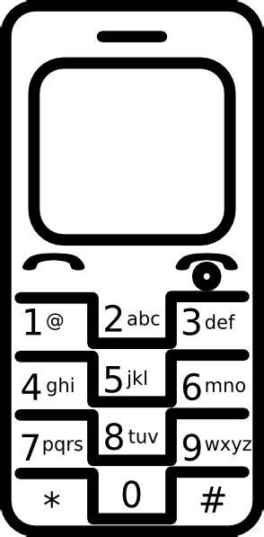 cellphone blank clip art at clker com vector clip art