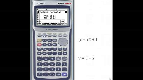 tutorial casio fx 9750gii using casio graph calculator youtube