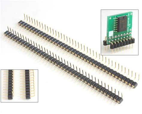 Pcb Header 5 Pin Molex 0022284050 proto advantage 0 1 quot 40 pin machine pin header pair for pcb edge to dip conversion