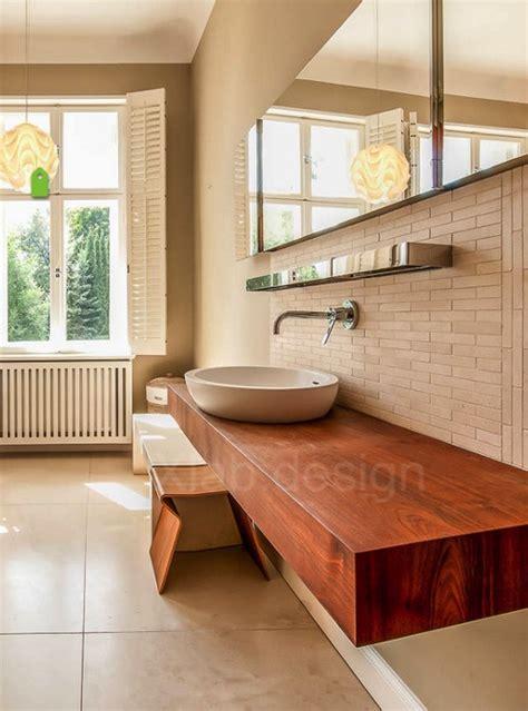 mensola per lavabo appoggio mensola da bagno in legno per lavabo d appoggio design