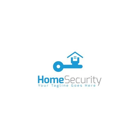 at home logo home security logo template vector free