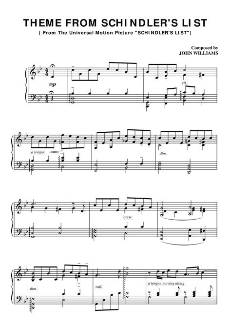 themes list pdf schindlers list theme piano sheet pdf docdroid