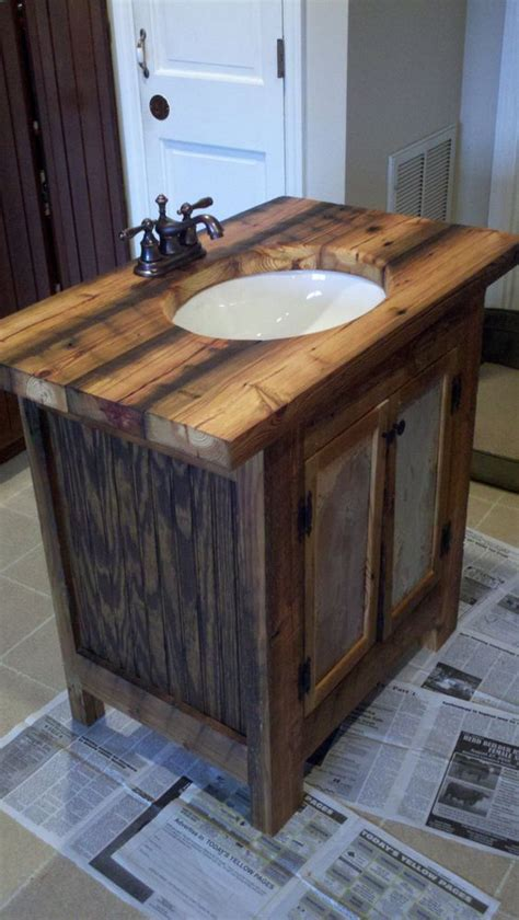 barn wood bathroom rustic bathroom vanity barn wood pine undermount sink