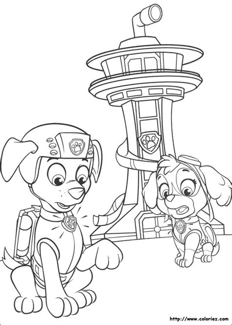 free coloring pages paw patrouille