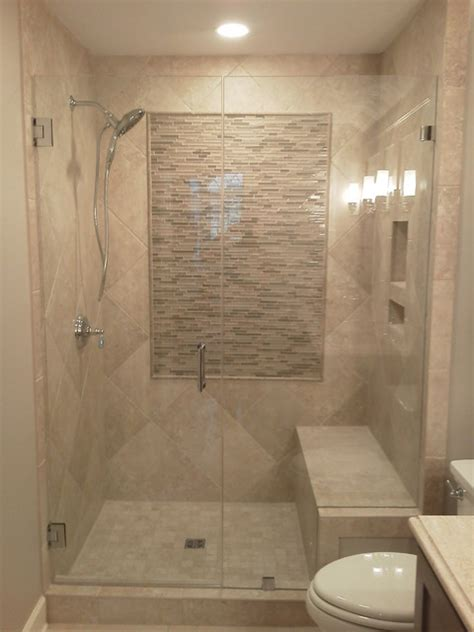 Showers With Seats And Glass Doors Frameless Shower Doors Contemporary Bathroom
