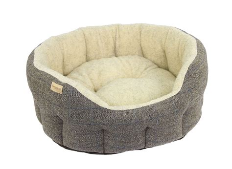 dog bed luxury tweed dog bed by earthbound muddy paws