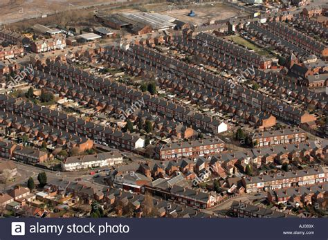 home design birmingham uk aerial view of terraced houses in aston area of birmingham
