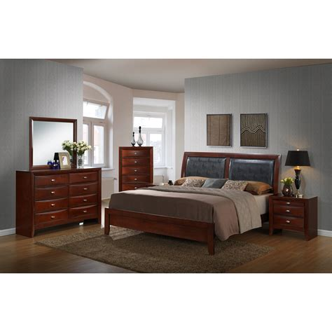 red bedroom set red barrel studio plumcreek panel 5 piece bedroom set