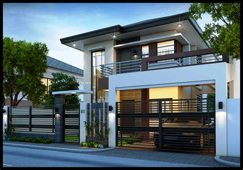 contemporary two story house designs 2 storey modern small houses with gate of philippines modern house