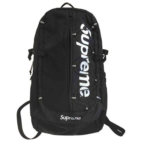 supreme bag black plain synthetic supreme bag vestiaire collective