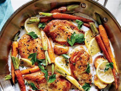 everyday dinner ideas 103 easy recipes for chicken pasta and other dishes everyone will books skillet chicken with roasted potatoes and carrots dinner