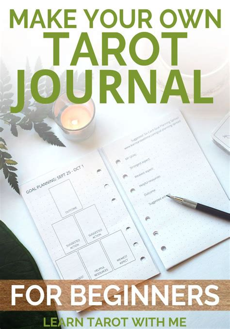 cards spread template tarot planning journal refill pages a5 and classic sized