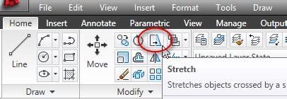 fungsi layout pada autocad prinsip cara melakukan stretch objek tutorial autocad x