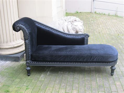 ornate chaise lounge mahogany ornate french shabby chic black velvet antique