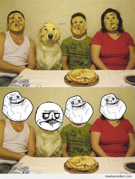 Pancake Memes - family with pancakes on their faces by ben meme center