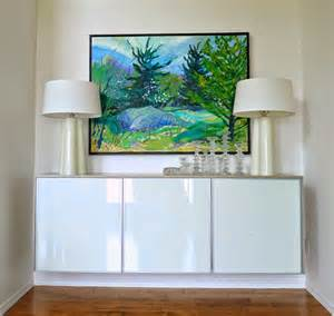 credenza ikea diy plywood topped ikea hack floating credenza dans le